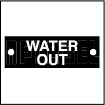 592959 Water Out Sticker Labels