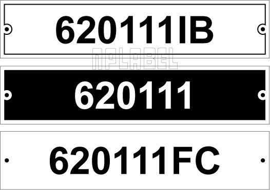 620111 - Control Panel Labels Size 185 x 40mm