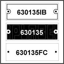 630135 - Control Panel Labels Size 60 x 21mm