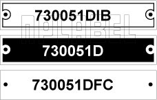 730051D - Control Panel Labels Size 80 x 15mm