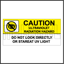 770602 Warning - UV Radiation Hazards Stickers