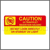 770602 Warning - UV Radiation Hazards Stickers