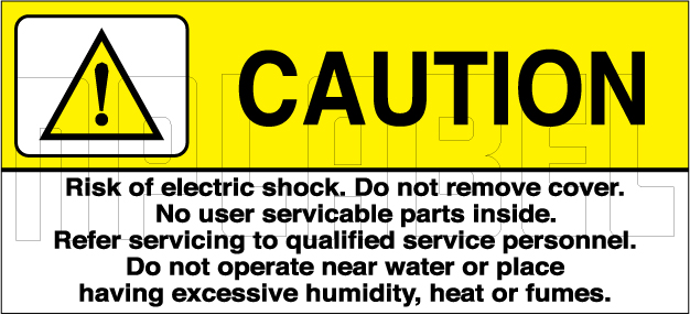 770603 Caution - Instruction Labels & Stickers