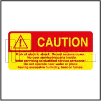 770603 Caution - Instruction Labels & Stickers