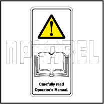 770604 Carefully Read Operator's Manual Stickers