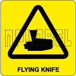 770613 Flying Knife Labels & Stickers