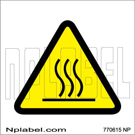 770615 Hot Surface Caution Signs Stickers & Labels