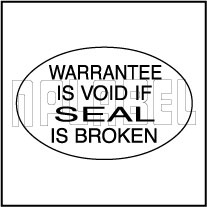 820407 Warrantee Void Sticker