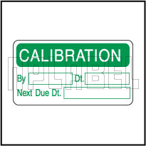 820432 Calibration Data Stickers & Labels