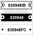 830948 - Control Panel Labels Size 40 x 12mm