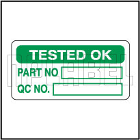 910073 Tested Ok Stickers