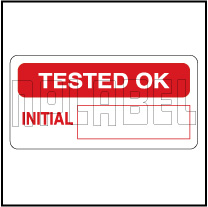 940008 Tested Ok QC Sticker