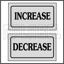 940135 Increase Decrease Stickers