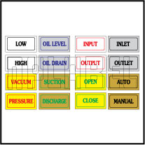 9401 Control Panel Sticker Labels