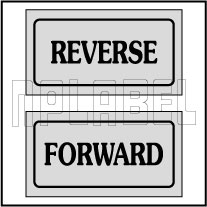 940164 Reverse Forward Direction Sticker