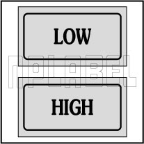 940165 Control Panel Sticker - Low/High