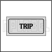 940166 Control Panel Sticker - TRIP