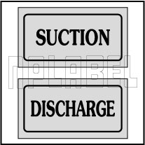 940169 Suction-Discharge stickers