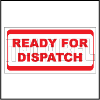 940563 Ready For Dispatch Sticker