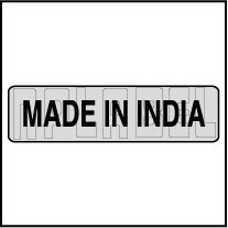 940565ML Made In India Metal Labels