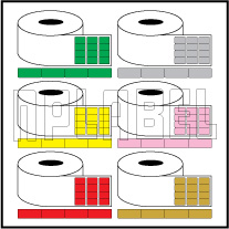 Color Barcode Labels - Across 4 Labels