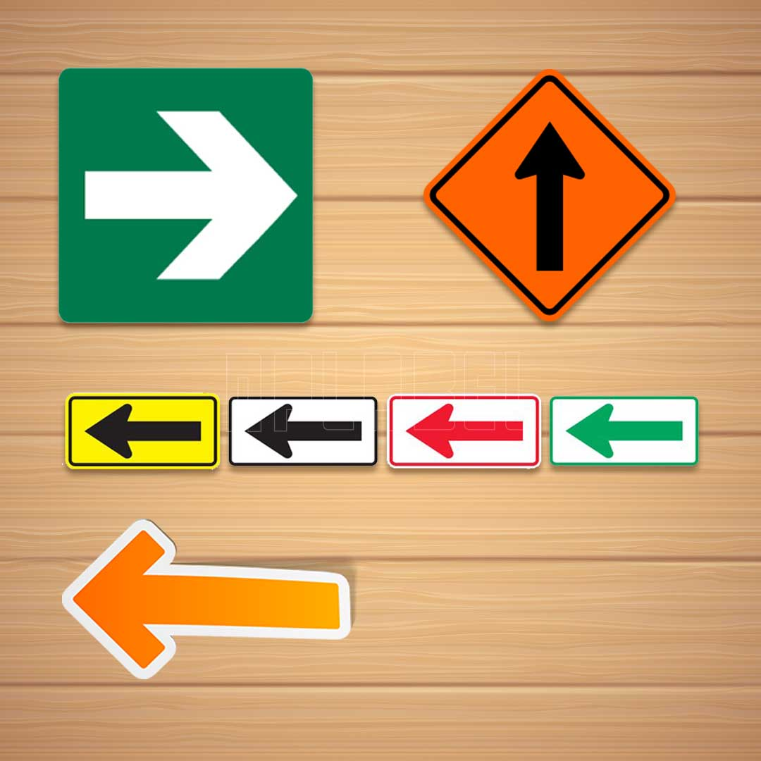 Direction Arrow Labels & Stickers