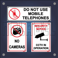CCTV, Camera & Mobile Phones, Keep Slience Sign Labels