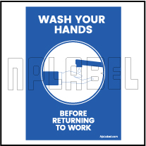 CD1901 Wash Your Hand Signages