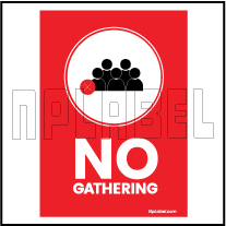 CD1905 No Gathering Signages