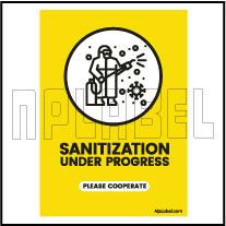 CD1906 Senitization Under Process Signages