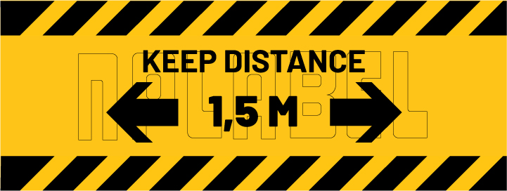 CD1922  COVID19 Keep Distance Signages