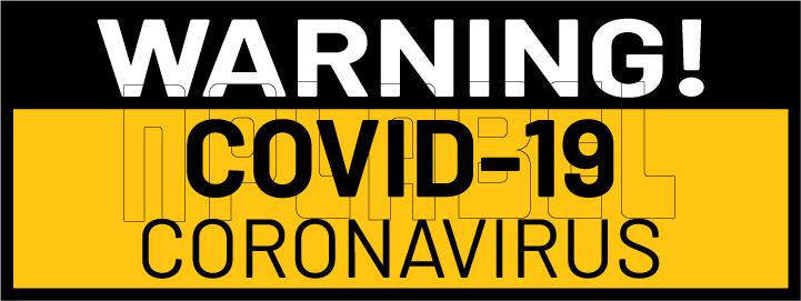 CD1923  Coronavirus Warning Signages