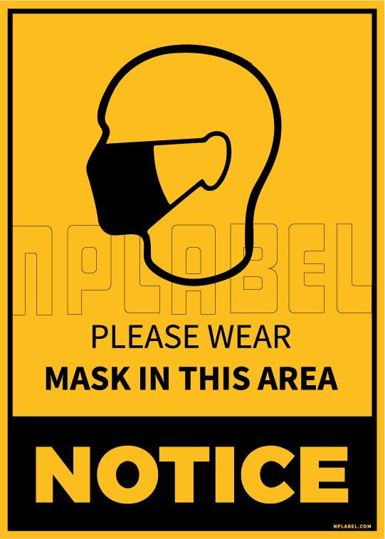 CD1932 Wear Mask Notice Signage