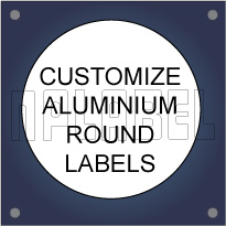Customize Round Metal Labels