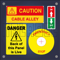 Control Panel Labels Stickers