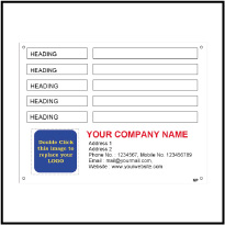 Custom Metal Label Template Data001