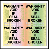 HG0006 Warranty Void Hologram Sticker