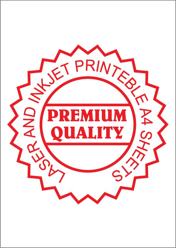 IL1000 Multipurpose A4 Plain Stickers Sheet