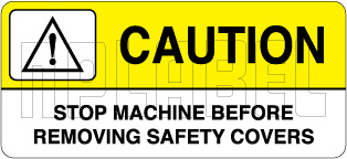 K21083 Caution Label - Removing Safety Covers