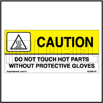 K21084 Do Not Touch Hot Parts Caution Sign Sticker