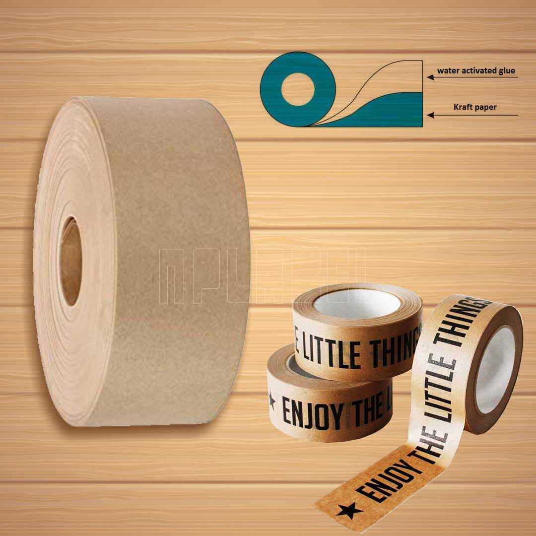 Water-Activated Gummed Kraft  Paper Tape