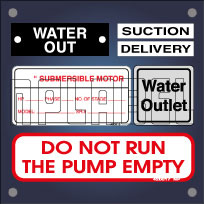 Labels & Stickers for Pump & Motors