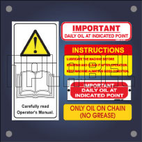 Machinery Maintenance Labels