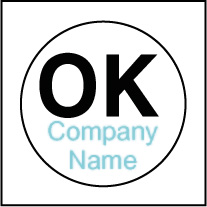 Custom OK Stickers Template OK001