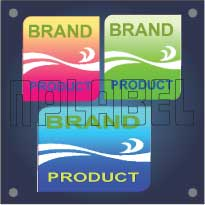 Different Shaped PU Coating Dome Labels