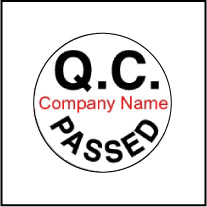Customize Q.C. PASSED Sticker - Template QC001