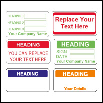 Customize Quality Control Labels QC 001