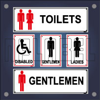 Toilet & Restroom Signs Name Plate