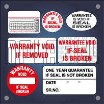 Warrantee Void & Seal Stickers