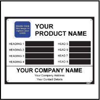 Metal Label Template Data006